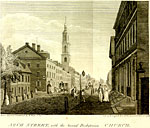 William Birch engraving of 400 Arch Street, ca. 1799