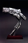 Colliding Masses, a 2001 fiberglass sculpture by James Peniston. Artist's collection, Philadelphia, Pennsylvania