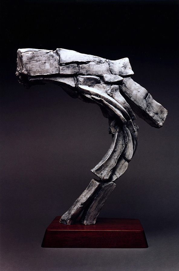 Colliding Masses, a 2001 bronze sculpture by James Peniston. Artist's collection, Philadelphia, Pennsylvania