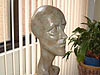 Louis' Head, a 1999 bronze sculpture by James Peniston. Private collection, New York City